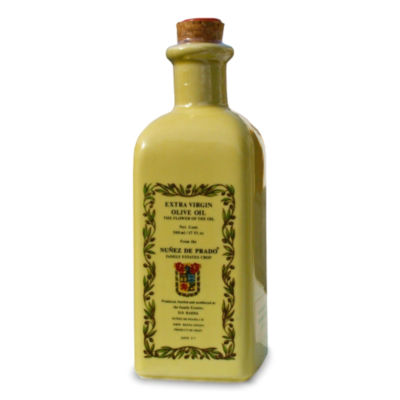 Nunez de Prado Organic Extra Virgin Olive Oil in Ceramic Bottle