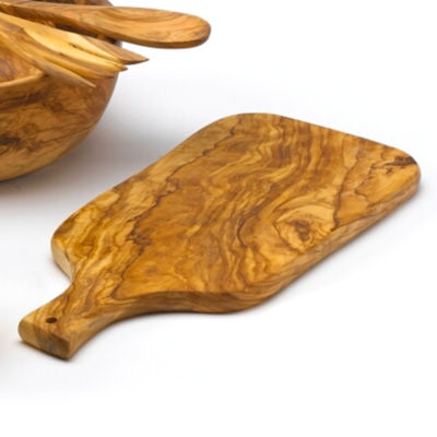 Spanish Olive Wood Cutting Board with Handle