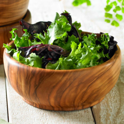 Individual Olive Wood Salad Bowl
