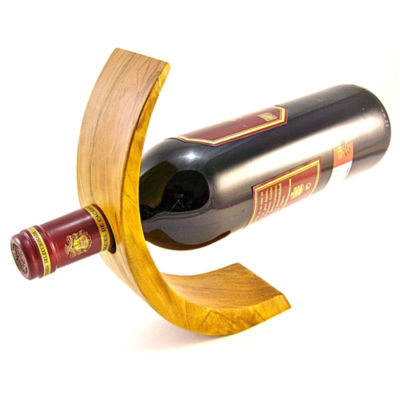 Olive Wood Wine Bottle Holder