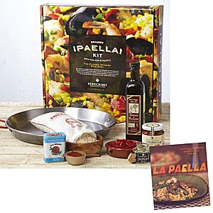 Traditional Paella Kit with Paella Cookbook by Peregrino