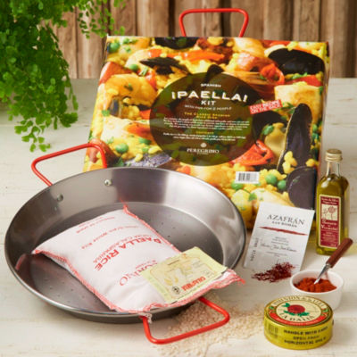 Mini Paella Kit in Gift Basket by Peregrino