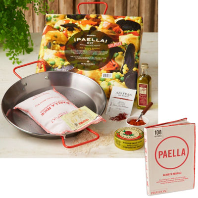 Mini Paella Kit in Gift Box plus Paella Cookbook by Peregrino
