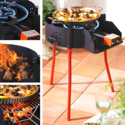 FREE SHIPPING! - Large Paella Grill System with Burner