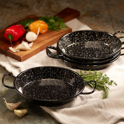 4-Pack Mini Paella Pans for Tapas