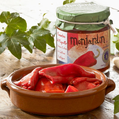 2 Jars of Organic Roasted Piquillo Peppers by Monjardin