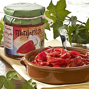 Organic Roasted Piquillo Pepper Strips by Monjardin