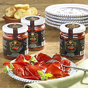 Wood-Fire Roasted Piquillo Peppers from Lodosa (3 Jars)