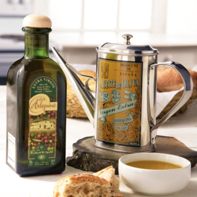 Oil Serving Cruet with Extra Virgin Olive Oil