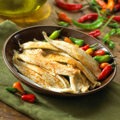 Boquerones Mild White Anchovies with Hot Pepper by Lorea (2 Trays)