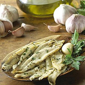 Boquerones Mild White Anchovies with Garlic and Parsley (2 Trays)