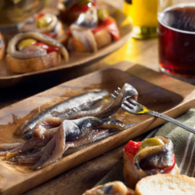 2 Tins of Smoked Anchovy Fillets by Nardin