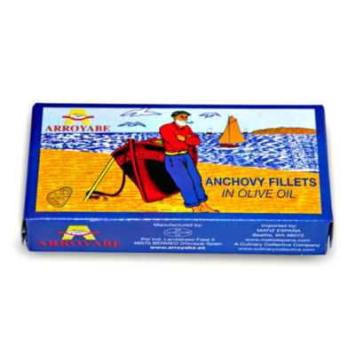 Arroyabe Anchovy Fillets in Olive Oil (2 Packages)