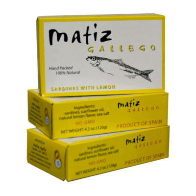 Sardines with Lemon by Matiz Gallego (3 Tins)