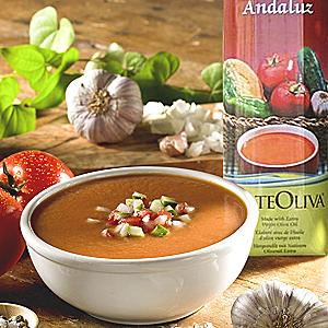 Gazpacho Andaluz with Extra Virgin Olive Oil by Arteoliva