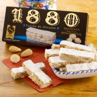 Crunchy Alicante Almond Turron Candy by 1880 - 10.5 Ounces