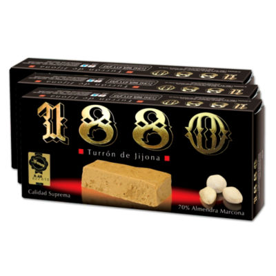 Almond & Honey Jijona Turron Candy by '1880' (3 Boxes)