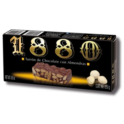 Gourmet Milk Chocolate Almond Turron Candy by 1880