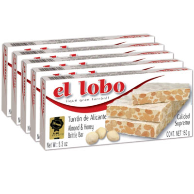 5 Boxes of El Lobo Alicante Turron 'Duro'