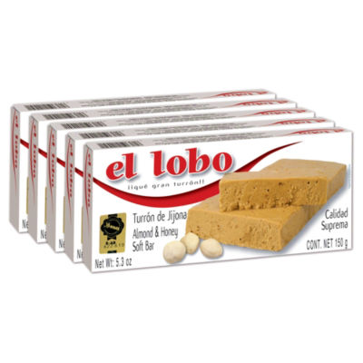 5 Boxes of El Lobo Jijona Turron