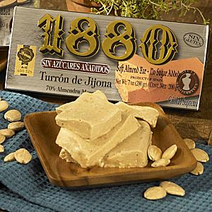 Sugar Free Jijona Turron Candy by '1880'