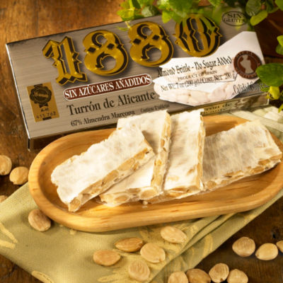 Sugar Free Crunchy Alicante Turron Candy by '1880'