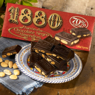 Dark Chocolate Almond Turron Candy by 1880