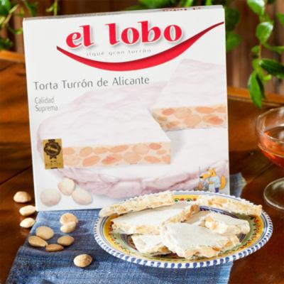 2 Boxes of 'El Lobo' Crunchy Alicante Torta Turrón Candy