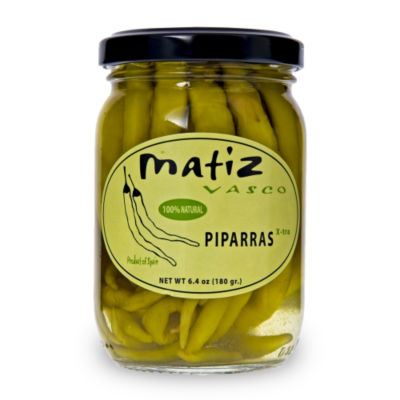 2 Jars of Piparras Peppers by Matiz Vasco