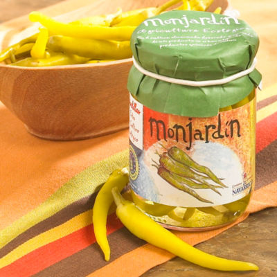 2 Jars of Organic Pickled Guindilla Peppers by Monjardin