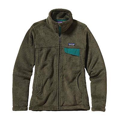Patagonia Womens Full-Zip Re-Tool Jacket - Sale - Fatigue Green/Urbanist Green X