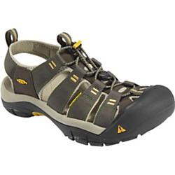keen mens newport h2 sandal - closeout- Save 15% Off - Keen Mens Newport H2 Sandal - Closeout - Order up some adventure with a side of water in the Newport H2 from KEEN. Ready for adverse conditions, the razor sipped outsole and 3mm lugs provide excellent traction. The washable polyester webbing upper features the odor-reducing Aegis Microbe ShieldA(R). KEEN patented toe protection lets you follow any path, whether to rivers or trails. Weight: 12.03 oz/341.045 g Type: Sandals Activities: Hiking, Beach, Sailing Weather: Warm - sandals Fit Tip: We find this style runs about a 1/2 size small Lining: AEGIS microbe shield treated hydrophobic mesh Upper: Washable polyester webbing Rubber: Non-marking rubber outsole with razor siping - Compression molded EVA midsole - Metatomical EVA footbed - Multi directional lug pattern with razor siping - Non-marking rubber outsole - Patented toe protection - Secure fit lace capture system - Washable polyester webbing upper with Aegis microbe shield(TM) HYBRID.OLOGIES: AEGIS MICROBE SHIELD Aegis Microbe Shield controls the bacteria and fungi that cause odors, stains and product deterioration. Aegis technology is free of environmentally harmful substances. METATOMICAL FOOTBED DESIGN This internal support mechanism is anatomically engineered to provide excellent arch support and cradle the natural contours of the foot. KEEN.PROTECT Can a sandal protect your toes The answer is yes. The reason is KEEN Patented Toe Protection where the shoe outsoles wrap up and over the toes for ultimate protection.