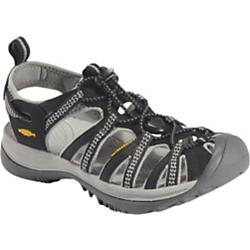 keen womens whisper sandal - closeout- Save 25% Off - Keen Womens Whisper Sandal - Closeout - From hidden coves to rushing rivers, the light in weight Whisper sandal from KEEN can manage any water-filled day. The quick draw elastic cord lacing system adjusts to a comfortable and secure fit. The washable polyester upper features the odor-reducing Aegis Microbe ShieldA(R). The foot-cushioning EVA molded footbed provides comfort on the go. Weight: 8.80 oz/250.536 g Type: Sandals Activities: Beach Weather: Warm - sandals Fit Tip: We find this style runs pretty true to size Lining: AEGIS microbe shield treated hydrophobic mesh Upper: Washable polyester webbing Rubber: Non-marking rubber outsole - Aegis Microbe Shield(TM) treated lining - Compression molded EVA midsole - Metatomical EVA footbed - Non-marking rubber outsole - Secure fit lace capture system - Secure metatomical strap design - Washable polyester webbing upper with Aegis microbe shield(TM) - Women's specific fit