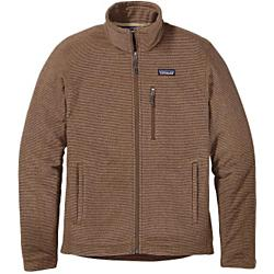 patagonia men's oakes fleece jacket- Save 55% Off - Patagonia Men's Oakes Fleece Jacket - Made of a soft-wearing heathered fleece, the new Oakes Jacket keeps you cool and contemplative on the Tamalpais loop trail as you climb out of the redwoods and up above the fog. In brushed 5.9-oz 100% cross-dyed polyester, the Oakes features sleek style lines, front and back yoke detailing and a zip-through, double-fabric stand-up collar. Worn on its own or layered under a shell, it has zippered, vertical handwarmer pockets and one zippered pocket on the left chest. Flat seams reduce bulk. Hip length. Details Lightweight, layerable full-zip jacket made of soft, brushed polyester fleece with a heathered face Features zip-through, double-fabric stand-up collar Front and back yoke detail Zippered vertical handwarmer pockets and one left-chest zippered pocket Flat seams for less bulk Hip length 5.9-oz 100% polyester cross-dyed fleece 382 g (13.5 oz) Made in Vietnam.