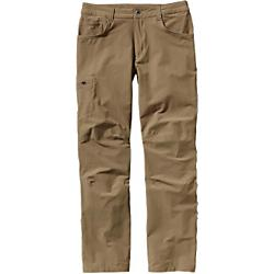 patagonia mens quandary pants - short - sale- Save 20% Off - Patagonia Mens Quandary Pants - Short - Sale - Comfortable, multifunction/all-season pants made of lightweight stretch-woven nylon/spandex fabric with DWR (durable water repellent) finish and 40-UPF sun protection; articulated knees and a gusseted crotch allow for full range of motion; a movement-oriented fit for comfort and unconstrained movement in any work or play activity. Be prepared, because you're on your own once you drop below the rim. Trekking down to the canyon bottoms, the new, movement-oriented Quandary Pants offer comfort and performance for exploring the wildest places in the Lower 48. Made of a strong, lightweight and quick-drying stretch-woven nylon/spandex fabric, they give you plenty of flex for the trail and have a weather-resistant DWR (durable water repellent) finish and 40-UPF sun protection. Curved waistband contours to the hip; gusseted crotch and knee articulation allow full range of motion. With two front handwarmer pockets (right has coin pocket), two rear pockets and side leg pocket with security zipper. Wide belt loops are reinforced for strength; zip fly with metal web-button closure. Inseam is 30