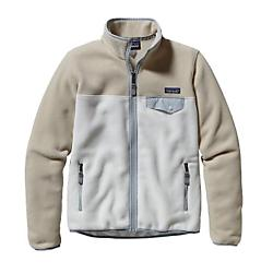 patagonia womens full-zip snap-t fleece jacket - sale- Save 45% Off - Patagonia Womens Full-Zip Snap-T Fleece Jacket - Sale - For walks on campus or 1-3-5 on a friend's campus board in a cold garage, this all-time classic fleece jacket will keep you warmed up. Color blocking makes this full-zip jacket fun, while lightweight double-faced fleece ensures durable easy care and comfort. Surprise zipper-pull detail provides unique flair while the classic Snap TA(R) nylon pocket flap keeps it old school cool. Hip length. Recycled double-faced polyester fleece is warm, durable and easy care Full-zip jacket with roomy stand-up collar trimmed with contrasting nylon Two zippered handwarmer pockets with contrasting grosgrain zipper pulls Left chest pocket with nylon flap and snap closure Cuffs and hem have spandex trim Hip length 7.5-oz 100% polyester (heathers 80% recycled; solids, 85%) double-faced fleece 433 g (15.3 oz) Made in El Salvador.