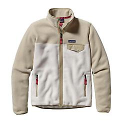 patagonia womens full-zip snap-t fleece jacket- Save 20% Off - Patagonia Womens Full-Zip Snap-T Fleece Jacket - For walks on campus or 1-3-5 on a friend's campus board in a cold garage, this all-time classic fleece jacket will keep you warmed up. Color blocking makes this full-zip jacket fun, while lightweight double-faced fleece ensures durable easy care and comfort. Surprise zipper-pull detail provides unique flair while the classic Snap TA(R) nylon pocket flap keeps it old school cool. Hip length. Recycled double-faced polyester fleece is warm, durable and easy care Full-zip jacket with roomy stand-up collar trimmed with contrasting nylon Two zippered handwarmer pockets with contrasting grosgrain zipper pulls Left chest pocket with nylon flap and snap closure Cuffs and hem have spandex trim Hip length 7.5-oz 100% polyester (heathers 80% recycled; solids, 85%) double-faced fleece 433 g (15.3 oz) Made in El Salvador.