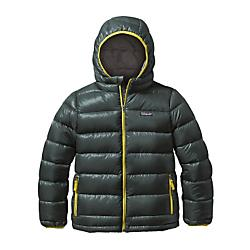 photo: Patagonia Boys' Hi-Loft Down Sweater Hoody down insulated jacket