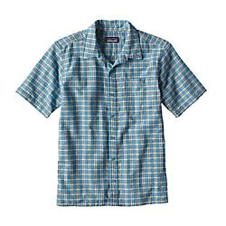 patagonia mens puckerware shirt- Save 35% Off - Patagonia Mens Puckerware Shirt - The budget-rate bus ride from Hanoi can have you drenched to the bone long before you've made it to the deep water solo routes of Ha Long Bay. A long-time favorite for travel in hot and humid conditions, the Puckerware short-sleeved shirt keeps you cool and comfortable through muggy days on the road. Made of a textured 65% recycled polyester/35% organic cotton seersucker blend, the crinkled weave stays loose and lifts away from the skin, allowing air to circulate and moisture to dissipate. It also resists wrinkling, washes easily and dries in a flash. With button-through left-chest pocket, side vents and straight hem.Made of an all-recycled polyester/organic cotton blend that dries quickly; textured fabric lifts shirt away from skin for warm-weather comfort Button-front shirt with button-through, left-chest patch pocket Straight hem with side vents 3.4-oz 65% all-recycled polyester/35% organic cotton yarn-dyed seersucker 198 g (7 oz) Made in Sri Lanka.