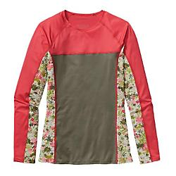 patagonia womens micro swell rashguard - sale- Save 20% Off - Patagonia Womens Micro Swell Rashguard - Sale - The Micro Swell Rashguard provides chafe-free sun protection during long downwinders, marathon surf sessions or reef pass dives. Made from soft, stretchy recycled nylon/spandex blend, the ultradurable sun shirt has a 50+ UPF rating. Modest crewneck and long sleeves lend excellent sun protection and prevent chafing from wax and sand while paddling. Raglan sleeves with gussets keep seams away from sensitive areas and allow full-range arm movement. Flatlocked princess seaming in front and back for a comfortable, formfitting silhouette. Hip length for maximum sun coverage. Soft and durable recycled nylon/spandex blend offers 50+ UPF sun protection Modest crewneck and long sleeves offer excellent sun protection and prevent chafing from wax and sand while paddling Raglan sleeves with gussets keep seams away from sensitive areas and allow for a full range of arm movement Princess seams in front and back allow for a close-to-body fit that's not too tight Hip length for maximum sun coverage while paddling out 5.4-oz 83% all-recycled nylon/17% spandex, with 50+ UPF sun protection 161 g (5.7 oz) Made in Colombia.