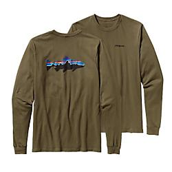 Patagonia Mens Long-Sleeved Fitz Roy Trout Cotton T-Shirt - New