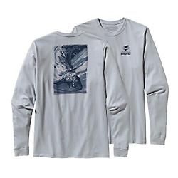 Patagonia Mens Long-Sleeved World Trout Cotton T-Shirt - New