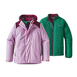 photo: Patagonia Girls' 3-In-1 Jacket component (3-in-1) jacket