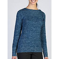 Ex Officio Womens Floriana Scoop - Closeout: Save 45% Off - Ex Officio Womens Floriana Scoop - Closeout - Travel in style with the Floriana Scoop. Button the shoulder all the way up or down for a different look. This wool blend sweater will keep you cozy and warm wherever you roam and features eco-friendly JavaTech technology thats quick drying and wicks moisture.