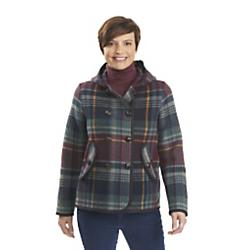 Woolrich, Inc Womens Century Wool Plaid Peacoat - New