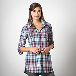 Toad&Co Womens Lightfoot Tunic - Closeout: Save 35% Off - Toad&Co Womens Lightfoot Tunic - Closeout - The Lightfoot Tunic loves going out for tea after yoga, curling up by the fire and tailgating with friends before the big game. A soft checked print in heathery organic cotton flannel makes dressing for anythingcanhappen autumn afternoons. Toss it on over your leggings, pull on your tall boots, and head out the door. Buttoned patch pockets and hand pockets let you take the essentials with you.