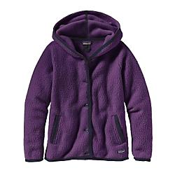 Patagonia Shearling Fleece Hooded Cardigan