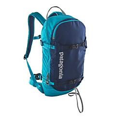 patagonia snow drifter pack - 20l- Save 20% Off - Patagonia Snow Drifter Pack - 20L - Inspired by the promise of the untracked, this stealthy pack carries the essentials you need to slip through the gates and find your own rhythm beyond the crowds. Built for quick forays into the sidecountry or backcountry, the SnowDrifter has a close-fitting, slim profile design with a clamshell-style opening that provides fast access to a dedicated compartment for snow safety tools. Sized to carry extra layers, extra calories and other short-tour essentials, it also provides multiple carry options with front compression straps for boards and skis, and side compression straps for skis; all have locking cam buckles. A separate microfleece-lined pocket keeps your goggles handy and protected from sharp edges. The clean suspension system incorporates heat-venting, snow-sloughing mesh on the shoulder straps and back panel for all-day carrying comfort; an insulated pocket on the shoulder harness prevents hydration systems from freezing. The top-mounted haul handle is reinforced and sized for gloves. Made from burly 420-denier 100% nylon Cordura 100% nylon plain weave for puncture and abrasion resistance, with a tough 940-denier CORDURA Ballistic 100% nylon base with polyurethane coating. Both fabrics have a DWR (durable water repellent) finish.