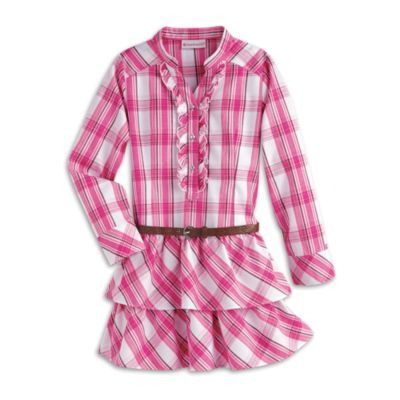 Western Plaid Dress &amp Belt for Girls  Truly Me  American Girl