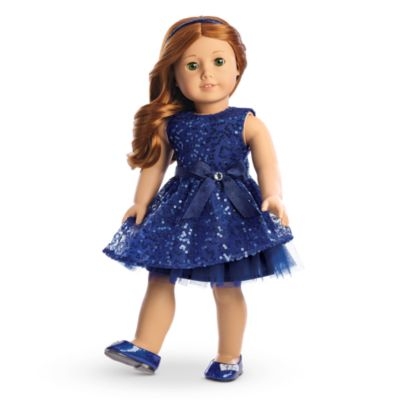 Happy Holiday Dress for Dolls   Charm | clothingmyag | American Girl